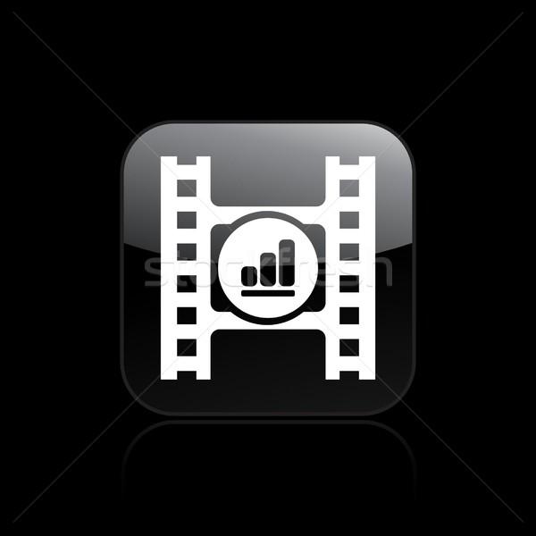 игрок икона фильма кнопки вектора иконки Сток-фото © Myvector