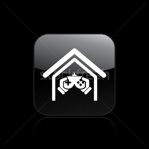 Jeu vidéo jouer maison maison jouer divertissement Photo stock © Myvector