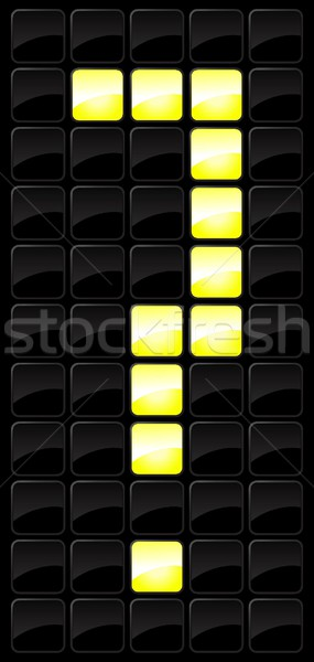 Scorebord icon nummers stijl lamp aantal Stockfoto © Myvector