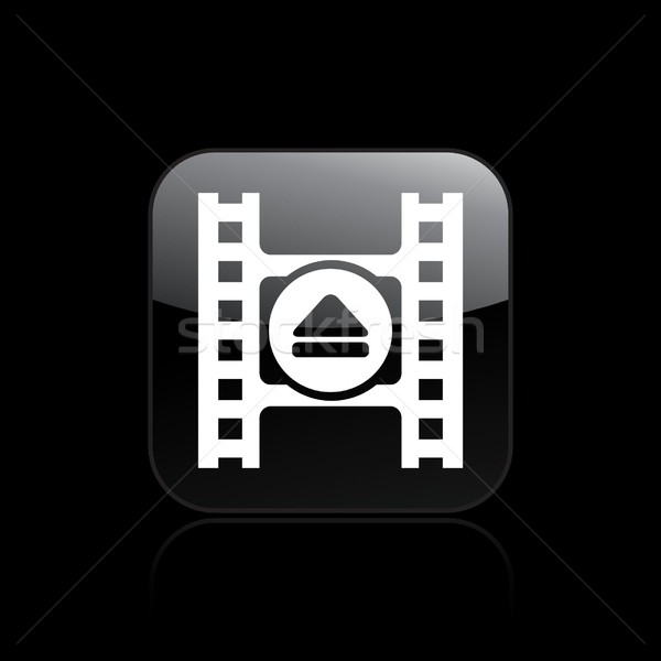 Video eject icon Stock photo © Myvector