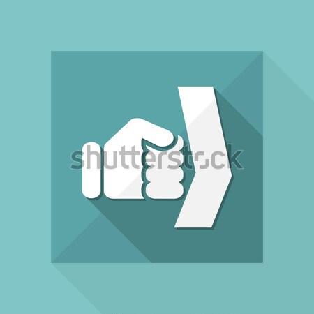 Niebieski ikona pojęcia Zdjęcia stock © Myvector