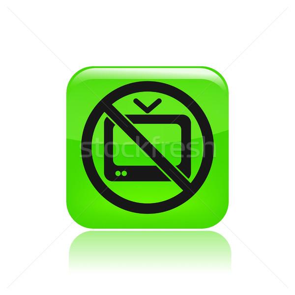 No tv icon  Stock photo © Myvector