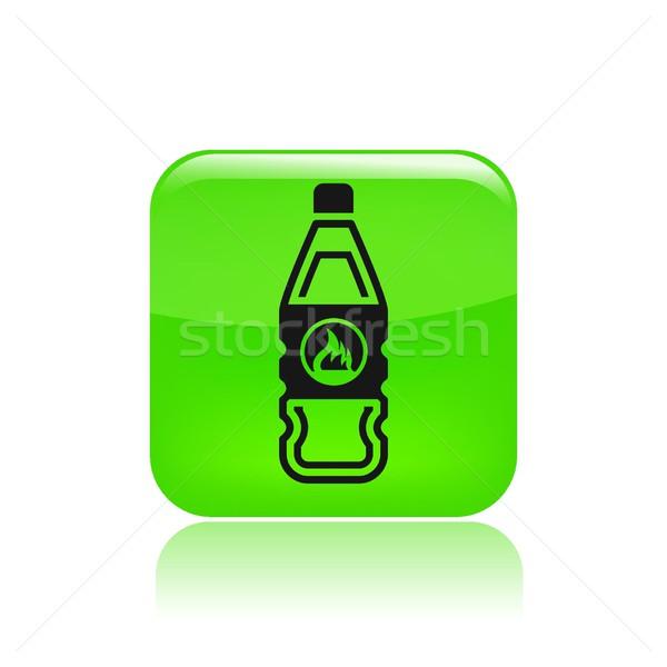 бутылку икона жидкость изолированный Сток-фото © Myvector