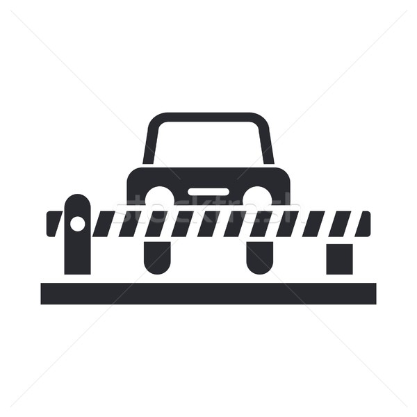 Car barrier icon Stock photo © Myvector