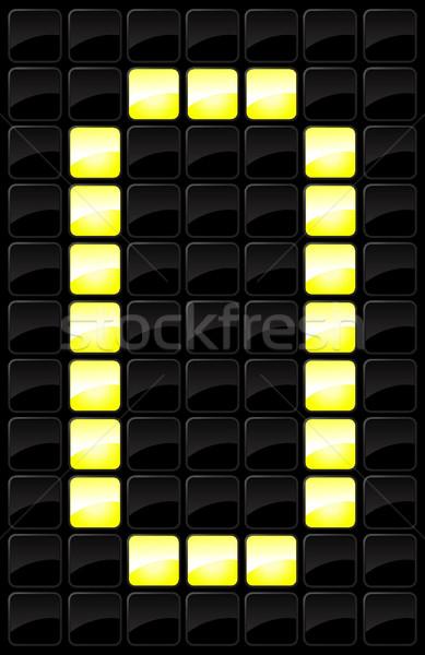 Scorebord brief icon sport stijl lamp Stockfoto © Myvector