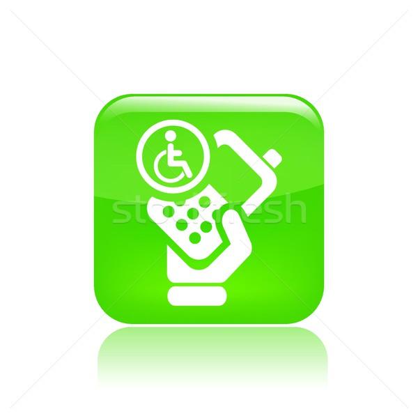 Handicap phone icon Stock photo © Myvector