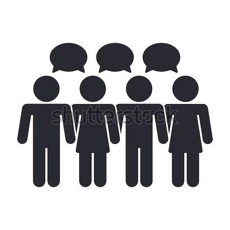Társasági ikon hálózat közösség chat ötlet Stock fotó © Myvector
