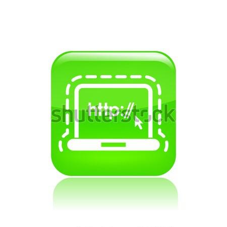 Blue glossy icon Stock photo © Myvector