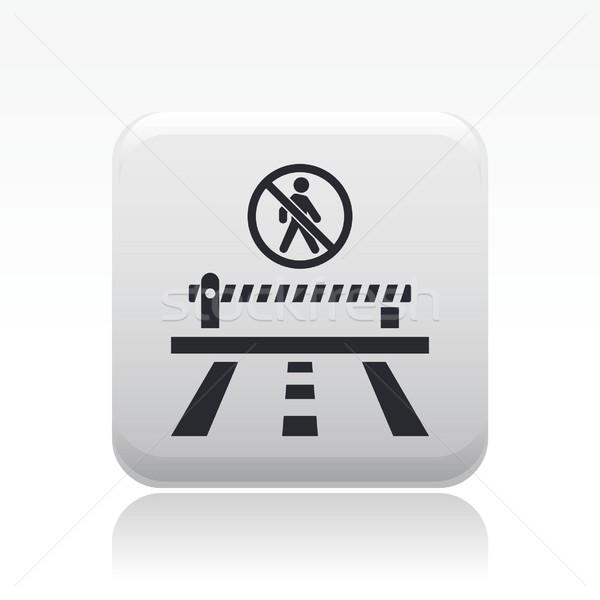 Accès interdit route icône ville carte Photo stock © Myvector