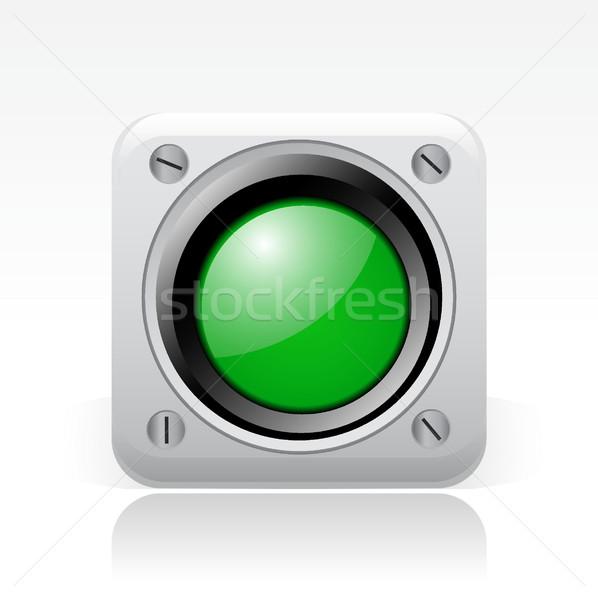 зеленый светофора икона начала Сток-фото © Myvector