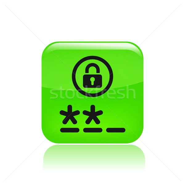 Wachtwoord icon Stockfoto © Myvector