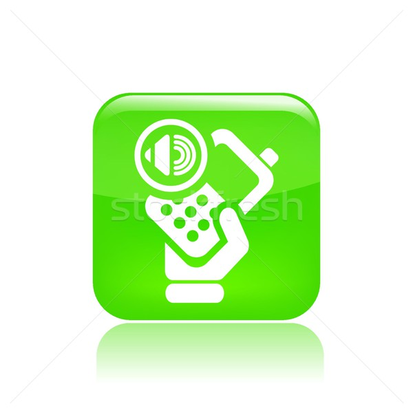 Telefoon audio icon telefoon Stockfoto © Myvector