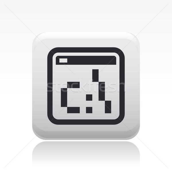 Dos pixel icon Stock photo © Myvector