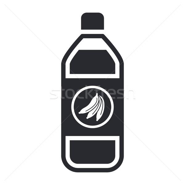 Gyümölcslé ikon gyümölcs ital üveg Stock fotó © Myvector