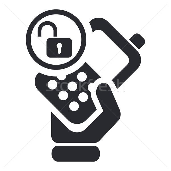 Unlocked phone icon Stock photo © Myvector
