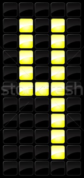 Konsol sayı tahtası numara ikon spor stil Stok fotoğraf © Myvector