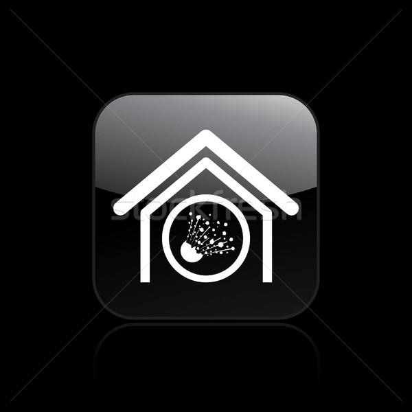 Icon huis home vloeibare geïsoleerd illustratie Stockfoto © Myvector