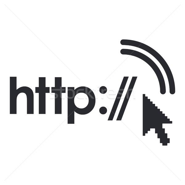 Http icône ordinateur maison réseau flèche Photo stock © Myvector