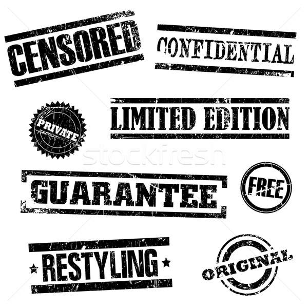 Sellos establecer sello tinta libre documento Foto stock © Myvector