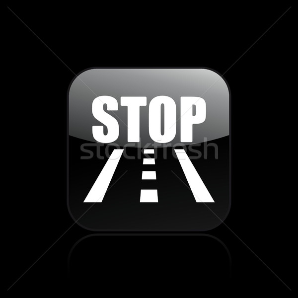 Road stop icon  Stock photo © Myvector