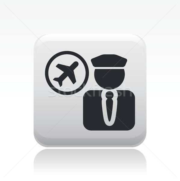 Pilóta ikon légy levegő Stock fotó © Myvector