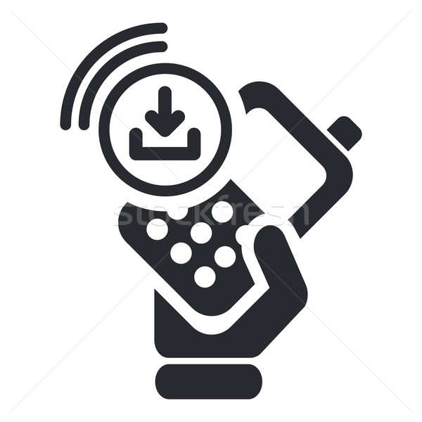 Baixar ícone telefone internet rede Foto stock © Myvector