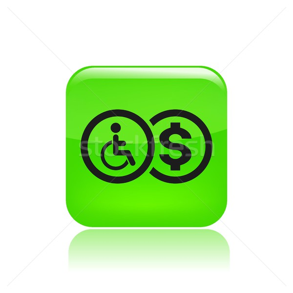 Handicap ikona ustawy niepełnosprawnych odizolowany ilustracja Zdjęcia stock © Myvector