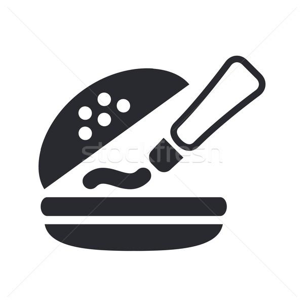 Sandwich icon geïsoleerd Stockfoto © Myvector