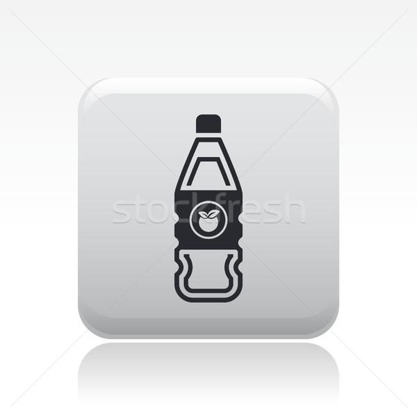 икона фрукты Бар бутылку персика Сток-фото © Myvector