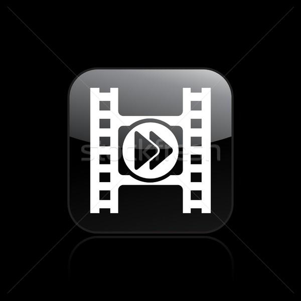 Video player icon Stock photo © Myvector