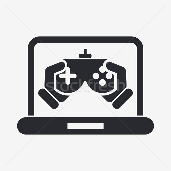 Icône maison web jouer jeu Photo stock © Myvector