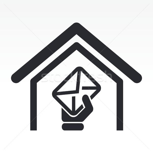 почты икона домой концепция Сток-фото © Myvector