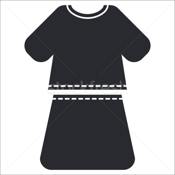 Vestir ícone menina feminino camisas conceito Foto stock © Myvector