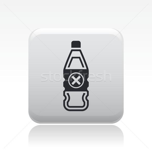 Tehlike şişe ikon sıvı kirlenme etiket Stok fotoğraf © Myvector