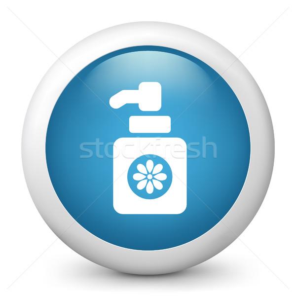 Mavi parlak ikon temizlik Stok fotoğraf © Myvector