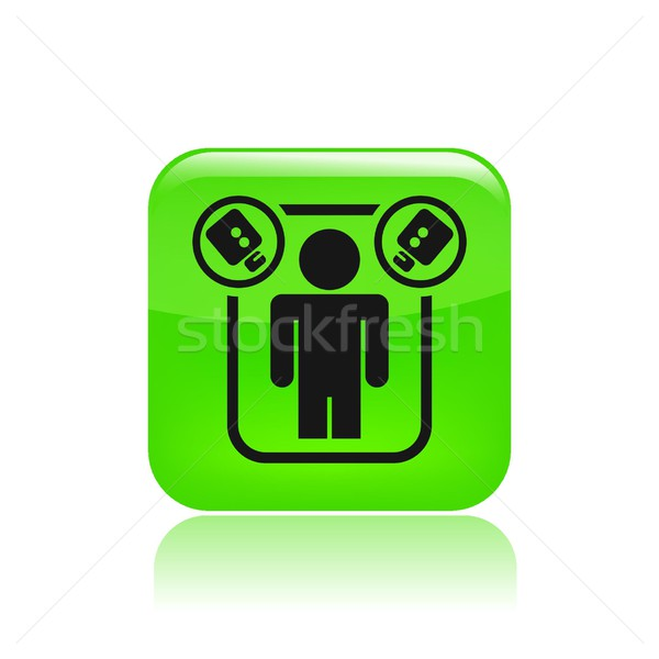 Spion icon televisie netwerk video concept Stockfoto © Myvector