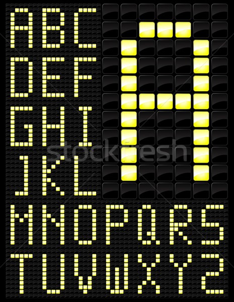 Scorebord woorden ontwerp boord games brieven Stockfoto © Myvector