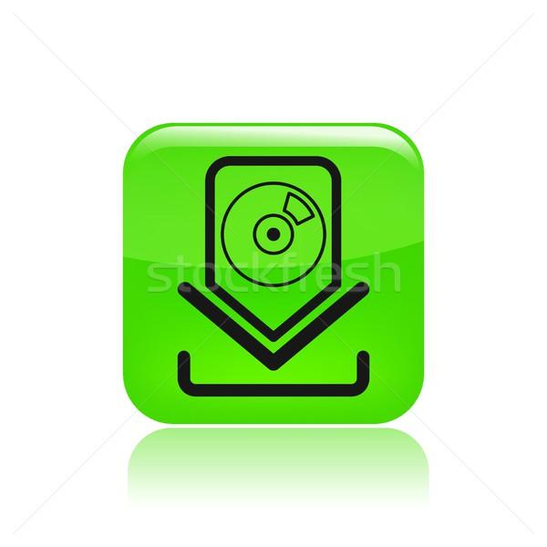 Musique icône de téléchargement internet web logiciels sonores Photo stock © Myvector