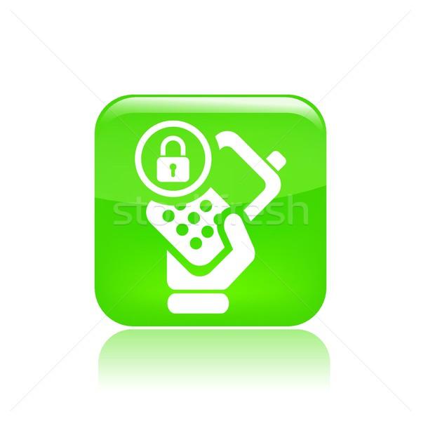 Lock phone icon Stock photo © Myvector