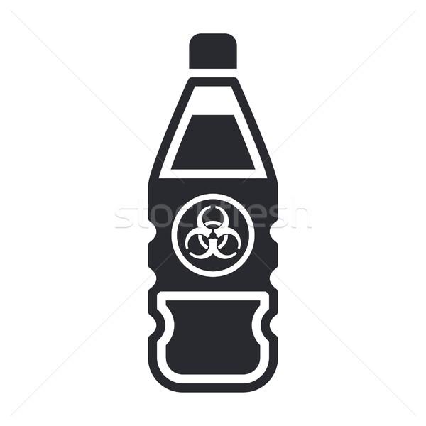 Veszélyes üveg ikon címke veszély Stock fotó © Myvector