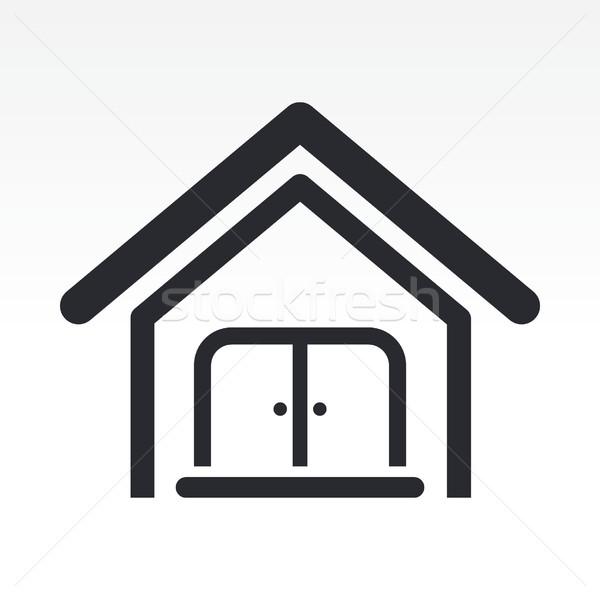 Сток-фото: домой · икона · недвижимости