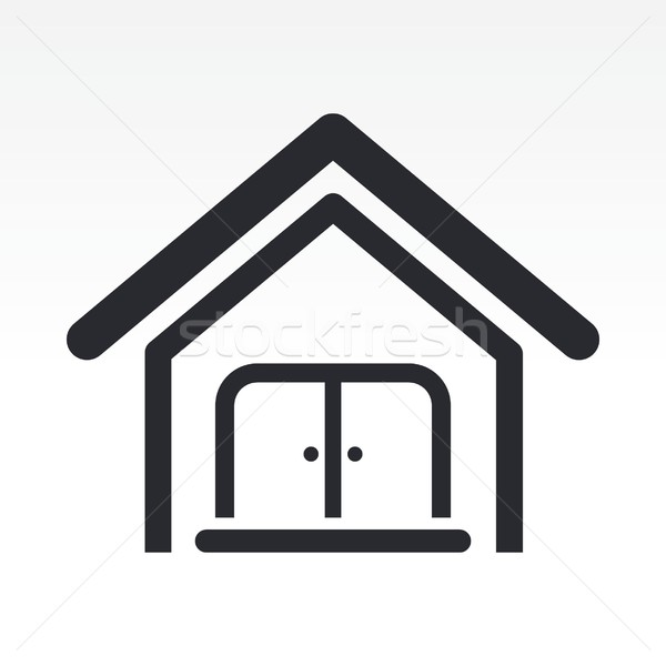 домой икона недвижимости Сток-фото © Myvector