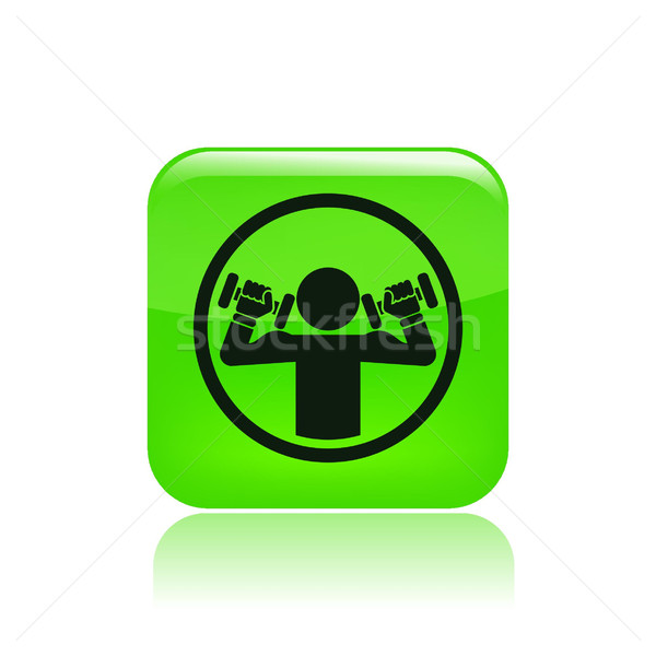 Weightlifting icon Stock photo © Myvector