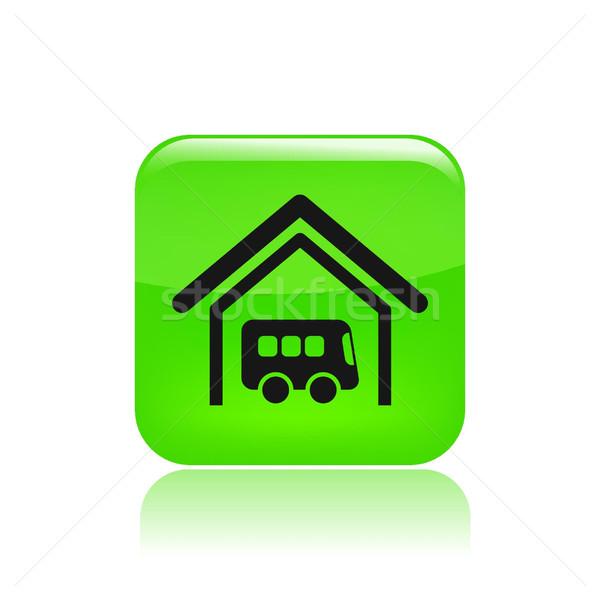Stok fotoğraf: Otobüs · durağı · ikon · otobüs · depolama · bilet · vektör