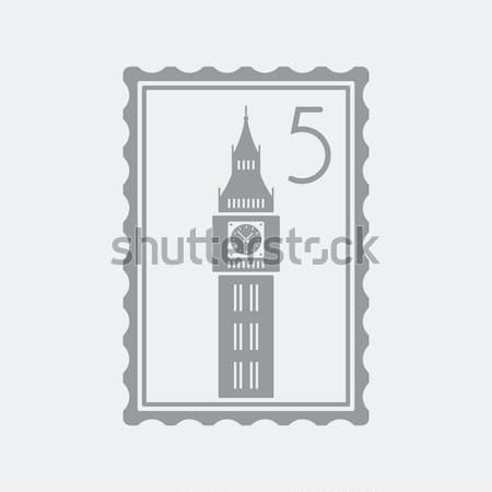 London ikon épület Európa karcolás angol Stock fotó © Myvector