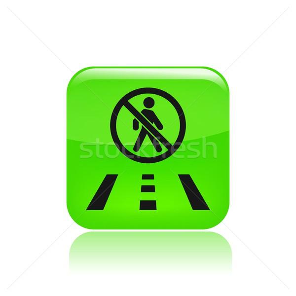 Weg icon kaart lopen manier richting Stockfoto © Myvector