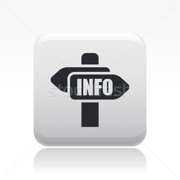 Információ irányítás ikon terv hírek adat Stock fotó © Myvector