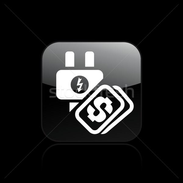 Energie kosten icon dienst elektriciteit geïsoleerd Stockfoto © Myvector