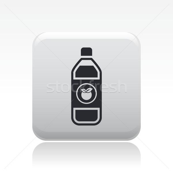 Gyümölcslé ikon gyümölcs bár üveg barack Stock fotó © Myvector