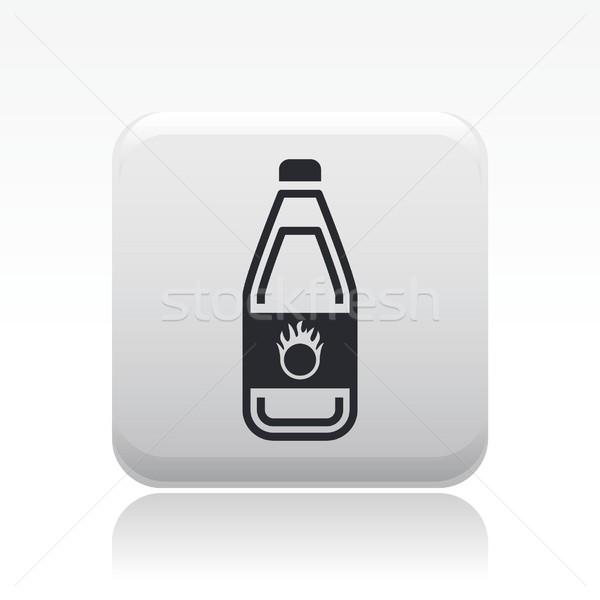 Pericoloso bottiglia icona liquido inquinamento etichetta Foto d'archivio © Myvector
